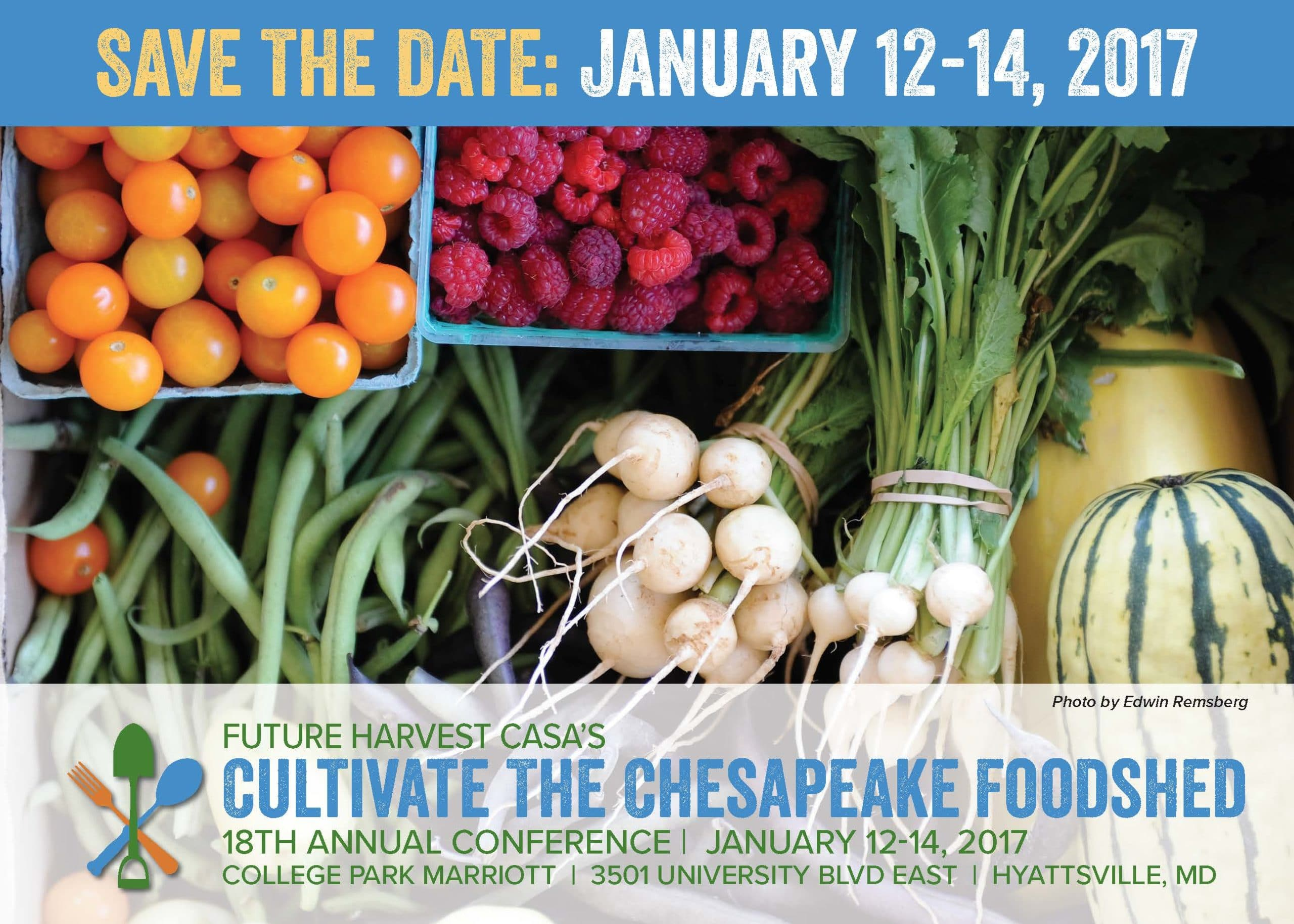 logo for Future Harvest CASA's Cultivate the Chesapeake Foodshed Conference!