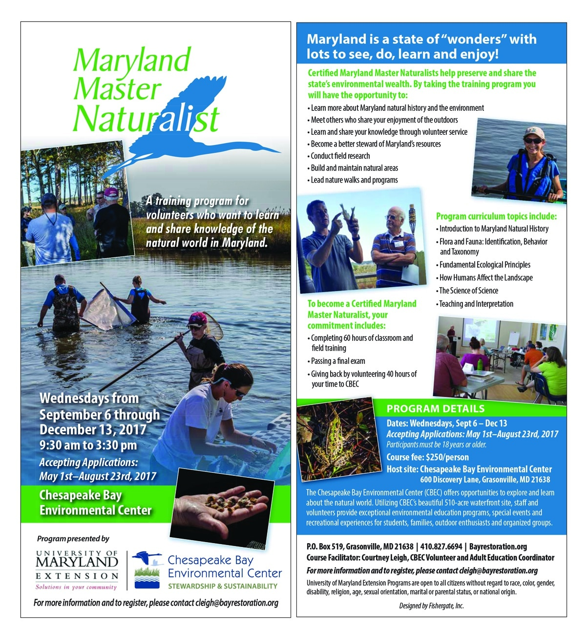 The chesapeake bay environmental center hosts maryland master the chesapeake bay environmental center hosts maryland master naturalist fall 2017 1betcityfo Images